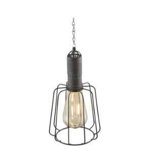 Globo Lighting Lampe solaire à suspension avec abat-jour à rayons