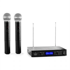 Malone VHF-400 Duo 1 - Système 2 canaux VHF sans fil : 2 micros main + 1 récepteur