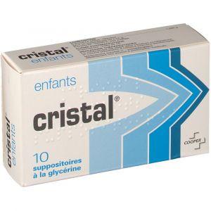Cooper Cristal Enfants - 10 Suppositoires