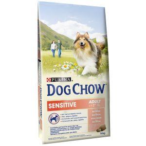 Dog chow Adult Sensitive Saumon et Riz - Sac 14 kg