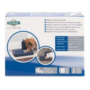 PetSafe Distributeur Automatique de Croquettes et Nourriture Digital pour Chat et Chien, 2 Repas Programmables (355ml), Sans BPA, Ecran Digital, Minuterie