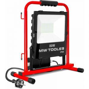 Mw-tools Lamp de chantier stable 80W avec 2 prises LCS80P