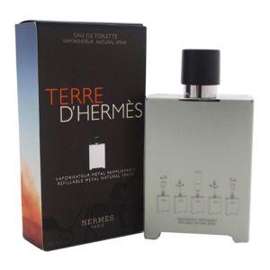 Hermès Terre d'Hermès - Eau de toilette pour homme (Vaporisateur métal remplissable)