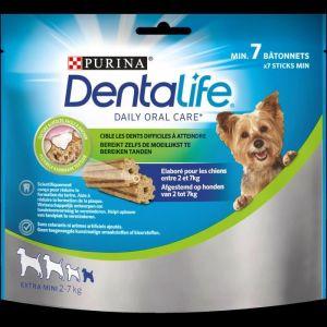 Purina DENTALIFE Extra Mini Bâtonnets à mâcher - Hygiène bucco-dentaire - Pour chien de très petite taille - 69 g