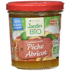 Jardin Bio Confiture Extra Pêche Abricot 320 g - Lot de 3