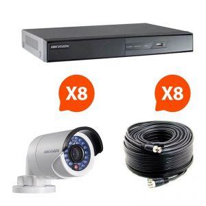 Hik vision HIK-8BUL-THD - Kit vidéosurveillance Turbo HD avec 8 caméras bullet N°2