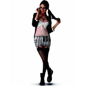 Rubie's Déguisement écolière sexy robe imprimée