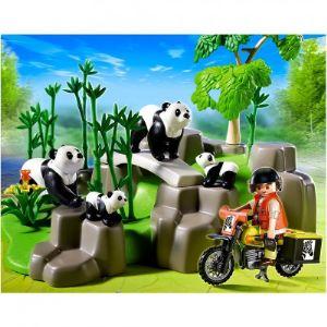 Playmobil 5414 Wild Life - Famille de pandas et bambous