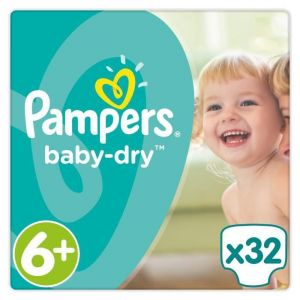 Image de Pampers Baby Dry taille 6+ 16 kg - 32 couches