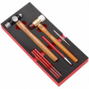 Facom Module d'outillage mousse outils de frappe, marteau tête boule MODM.MI4
