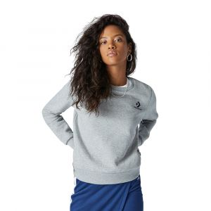 Converse Sweat-shirt STAR CHEVRON EMBROIDERED CREW Gris - Taille M,L,XL