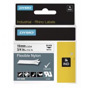 Dymo Ruban nylon flexible D1 - noir/blanc - 12 mm x 3,5 m