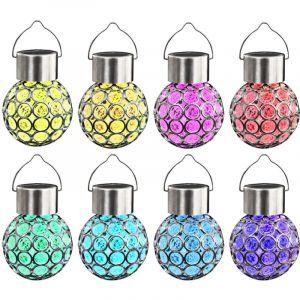 VidaXL Lampe solaire suspendue 8 pcs lumières LED RGB