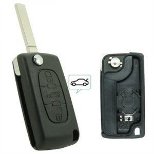 Neoriv Coque de clé télécommande adaptable + lame PSA307