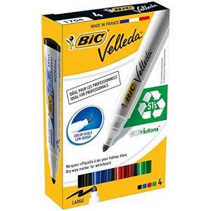Bic 4 marqueurs effaçable encre de couleurs assortis pointe moyenne