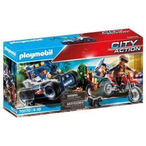 Playmobil Policier avec voiturette et voleur City Action 70570