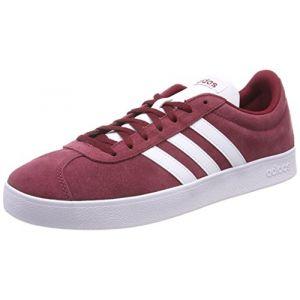 Adidas VL Court 2.0, Chaussures de Fitness Homme, Rouge (Buruni/Ftwbla/Negbas 000), 44 2/3 EU