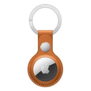 Apple Porte-Clés en cuir AirTag Ocre