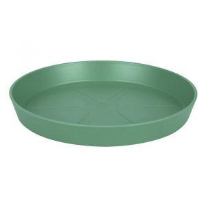Loft URBAN Soucoupe pour pot de fleur - Ronde - Ø21 cm - Vert jade - Pratique contre les tâches d'humidité sur la table ou les dalles de la terrasse