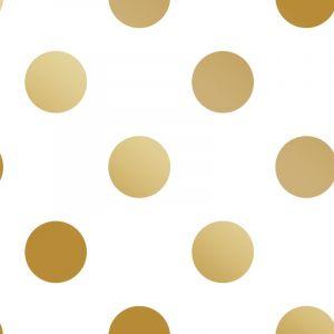 Superfresco Easy Kids at Home Papier peint Dotty Gold Blanc et doré 100105