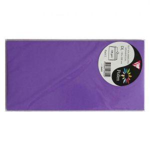 Pollen 26605C - Enveloppe 110x220, 120 g/m², coloris violine, en sachet de 5