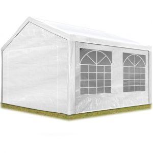 Intent24 Tente de réception 3x4 m pavillon blanc bâche PE épaisse de 180 g/m² imperméable tente de jardin.FR