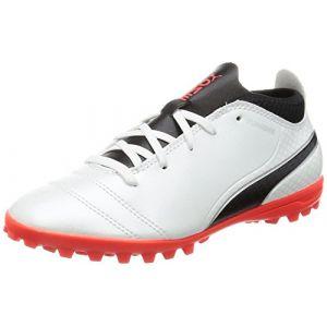 Puma Chaussures de foot enfant One 17.4 TT Jr blanc - Taille 38