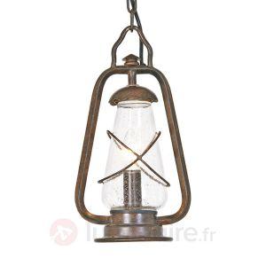 Elstead Suspension extérieure Miners chain bronze 60 watts E14