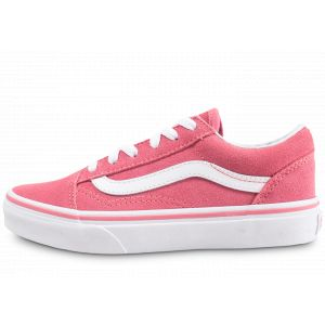 Vans Old Skool Enfant Rose Et Blanche 33 Skate