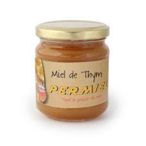 Miel de thym conventionnel bio dans pot en verre de 250 g