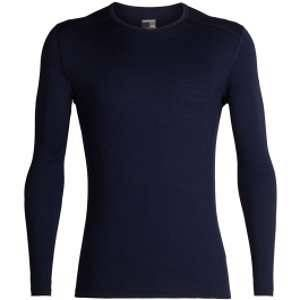Icebreaker Mens 200 Oasis LS Crewe Midnight Navy Sous-vêtements techniques