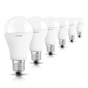 Osram LED STAR Ampoule LED, Forme Classique: E27, 14 W Equivalent 100W, 220-240V, dépolie, Blanc Chaud 2700K, Lot de 6 pièces