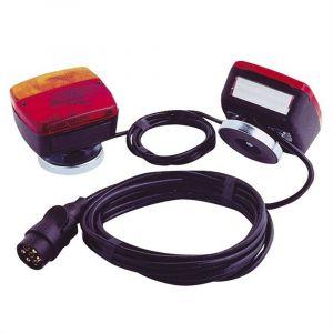 Peraline Kit Feux Magnetique - 2 Feux Arrieres Pour Remorque Installation Rapide