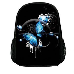 Luxburg Élégant Sac à dos pour école, sport, voyages - Papillon Bleu