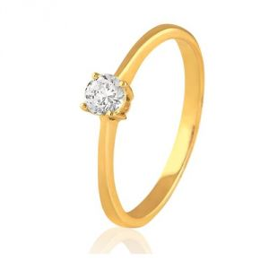 CaraShop 3663644016362 - Solitaire diamant en or jaune