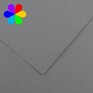 Canson 200040035 - Feuille Iris Vivaldi A4 120g/m², coloris gris foncé 36
