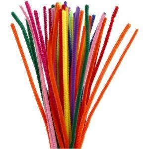 Creotime Assortiment de fil chenille 30 cm - Multicolore - 50 pcs