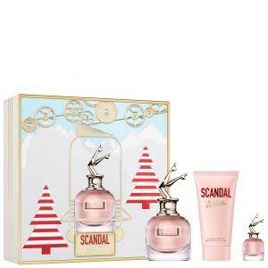 Jean-Paul Gaultier JPG SCANDAL 50ml Eau de Parfum, 6ml EDP & 75ml Lotion Pour Le Corps