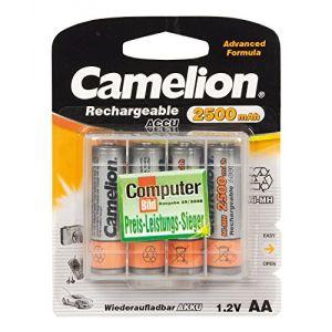 Camelion Piles rechargeables (Accus) NiMH AA / LR06 2500mAh P4