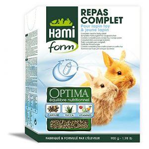Hamiform Repas complet Optima lapin toy et jeune lapin 1 kg