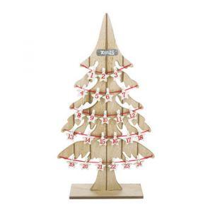 A by Amara Calendrier de l'Avent en Bois Arbre de Noël