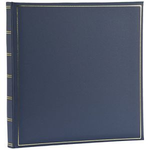 Henzo Album photo traditionnel Champagne bleu 35 pages