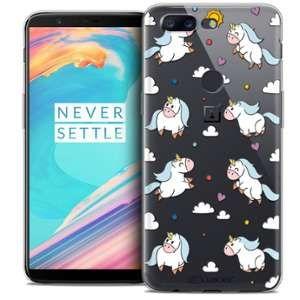 CaseInk Coque OnePlus 5T (6 ) Extra Fine Fantasia Licorne In the Sky