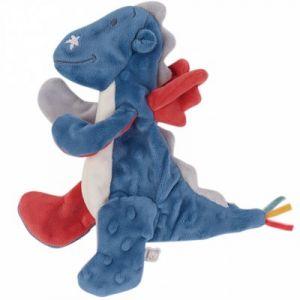 Noukies Doudou plat étiquettes dragon Victor