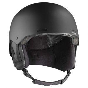 Salomon Casque de Ski et de Snowboard pour Homme, Coque ABS, Technologie SMART, Taille L, Tour de Tête : 59-62 cm, BRIGADE+, Noir (All Black), L40536800