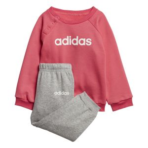 Adidas Ensemble / Linear Fleece Jogger Rose / Gris - Taille 0-3 Mois