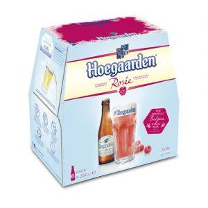 Hoegaarden Bière blanche à la framboise, 3% vol. - Les 6 canettes de 25cl