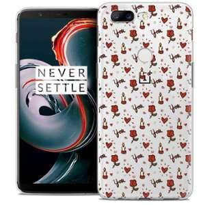 CaseInk Coque OnePlus 5T (6 ) Extra Fine Love Bougies et Roses