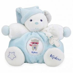 Kaloo Doudou attache sucette Imagine Patapouf Ourson bleu (25 cm)