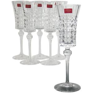 cristal d 39 arques g5186 6 verres pied longchamp 25 cl comparer avec. Black Bedroom Furniture Sets. Home Design Ideas